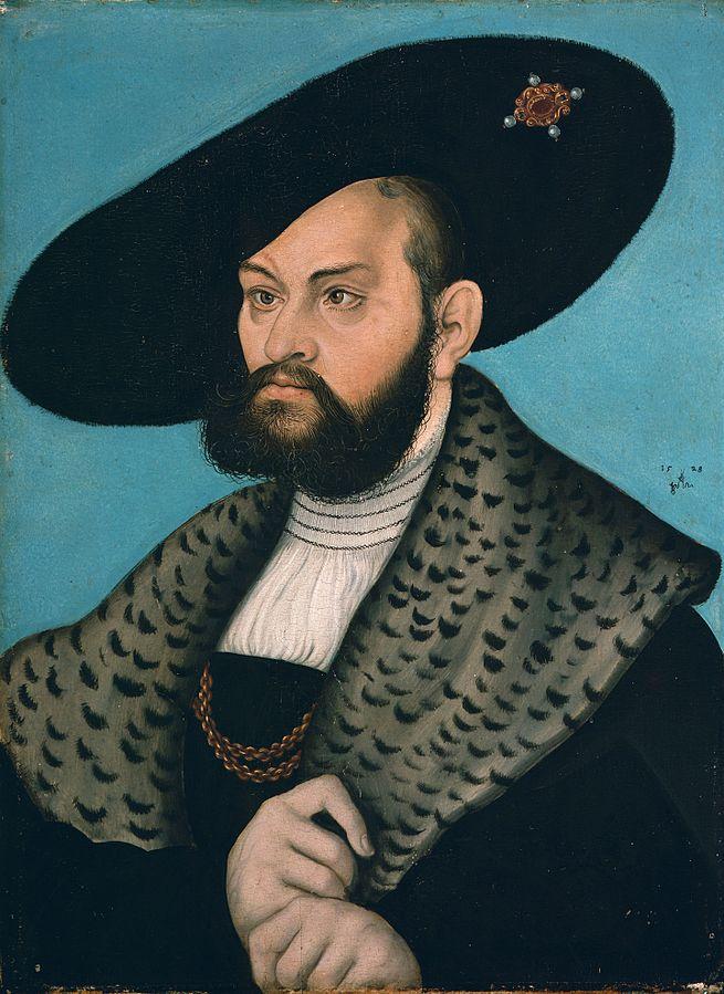 Lucas-Cranach-Starszy-1528-Albrecht-Hohenzollern