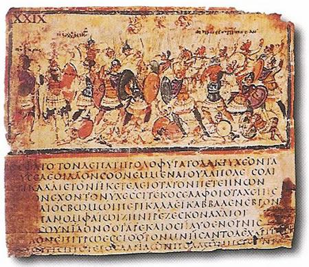 9.-Iluminacja-do-manuskryptu-bizantyjskiego-Iliady-z-V-w.-n.e.-Mediolan-Biblioteka-Ambrosiana
