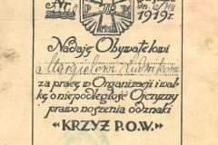 8.-Świadectwo-nadania-Ludwikowi-Marglowi-Krzyża-POW