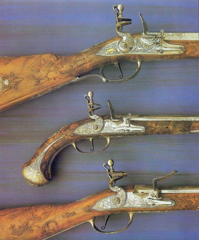 6.-Niemieckie-strzelby-i-pistolet-ok.-1730-r.