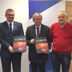 Delegacja z Sieradza w siedzibie Polskiej Agencji Kosmicznej