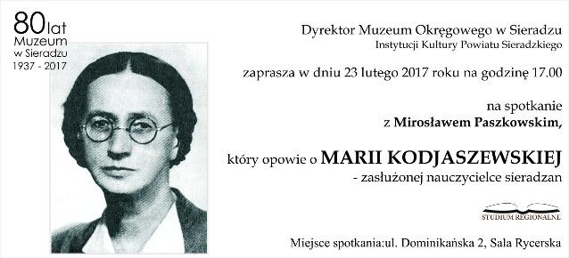 Maria Kodjaszewska - zasłużona nauczycielka sieradzan
