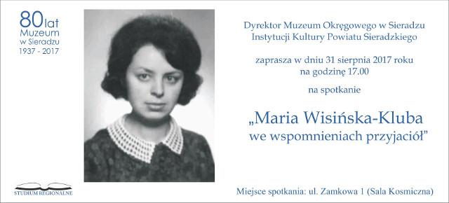 Maria Wisińska - Kluba we wspomnieniach przyjaciół