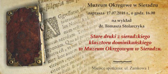 Stare druki z sieradzkiego klasztoru dominikańskiego w Muzeum Okręgowym w Sieradzu