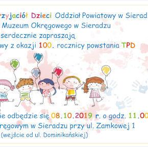100. rocznica powstania Towarzystwa Przyjaciół Dzieci